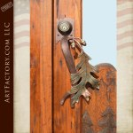 nature theme hand carved door