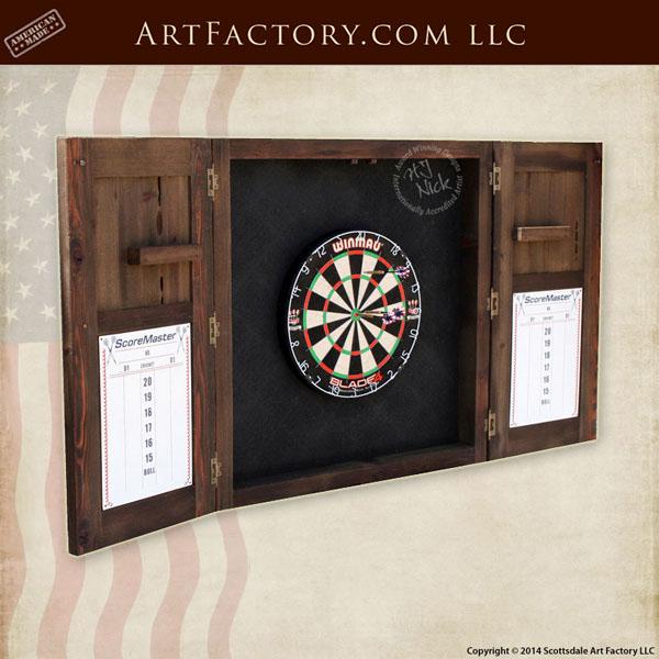 custom dart board cabinet ... - Custom Dart Board Cabinet: Handmade By Master Craftsmen
