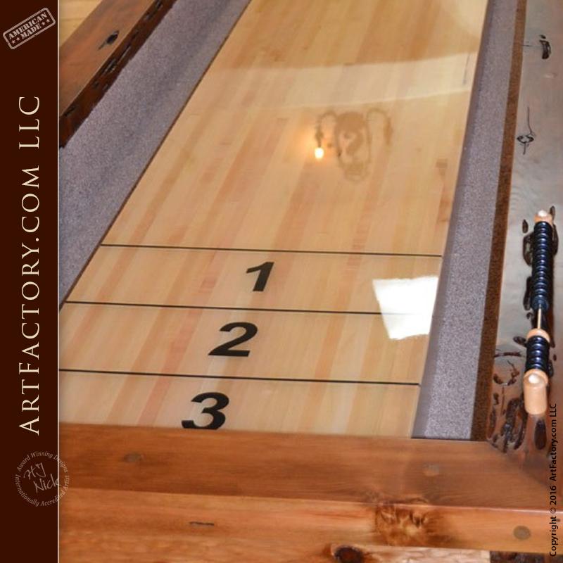 game room shuffle board