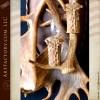 custom fallow antler sconce