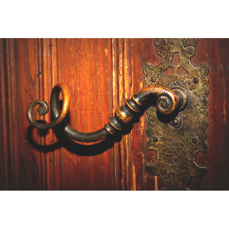 Hand Forged Wrought Iron Door Handle From Antiquity