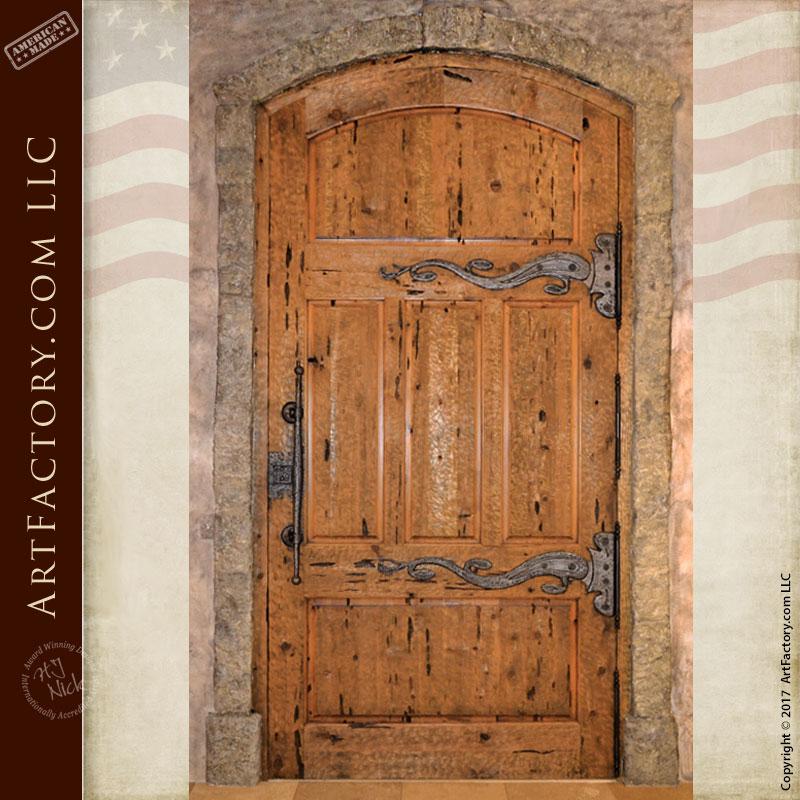 Custom Medieval Castle Door Fine Art Hand Forged Iron