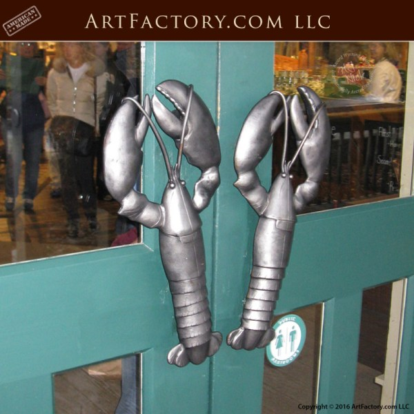 Hand Forged Lobster Door Pull