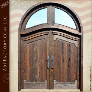 wood panel double entry doors
