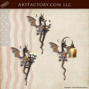 Dragon Theme Sconce Lighting