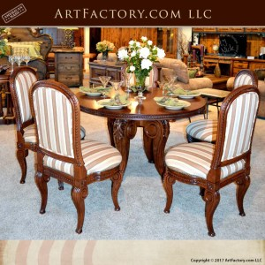 Carved Cherry Wood Dining Table