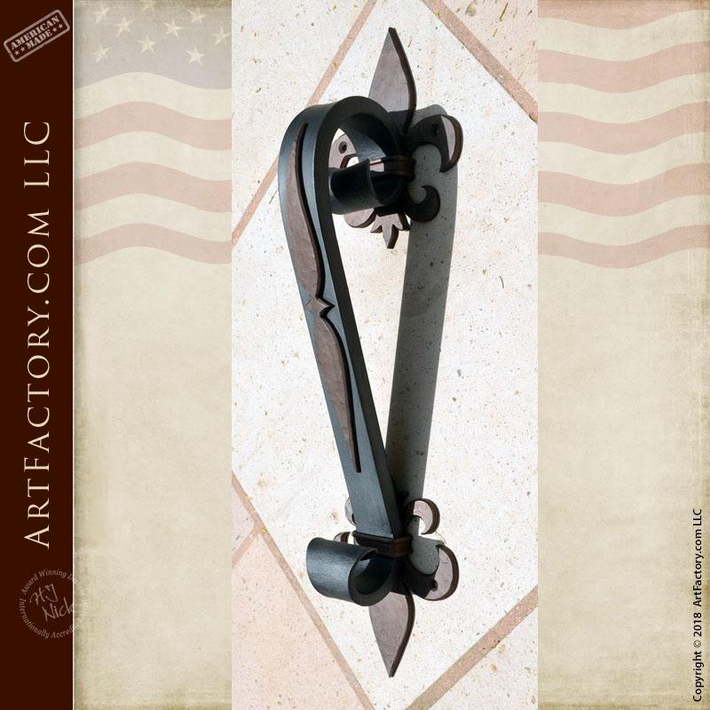 custom fleur-de-lis theme door pull