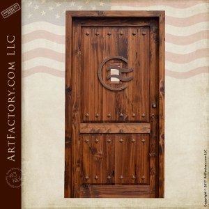 custom western front door