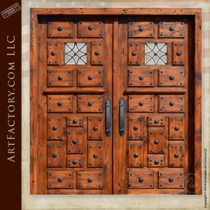 medieval style castle doors