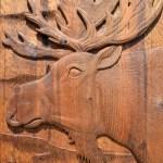 hand carved exterior door