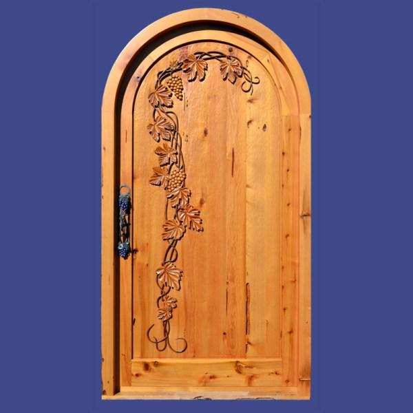 wood wine cellar door