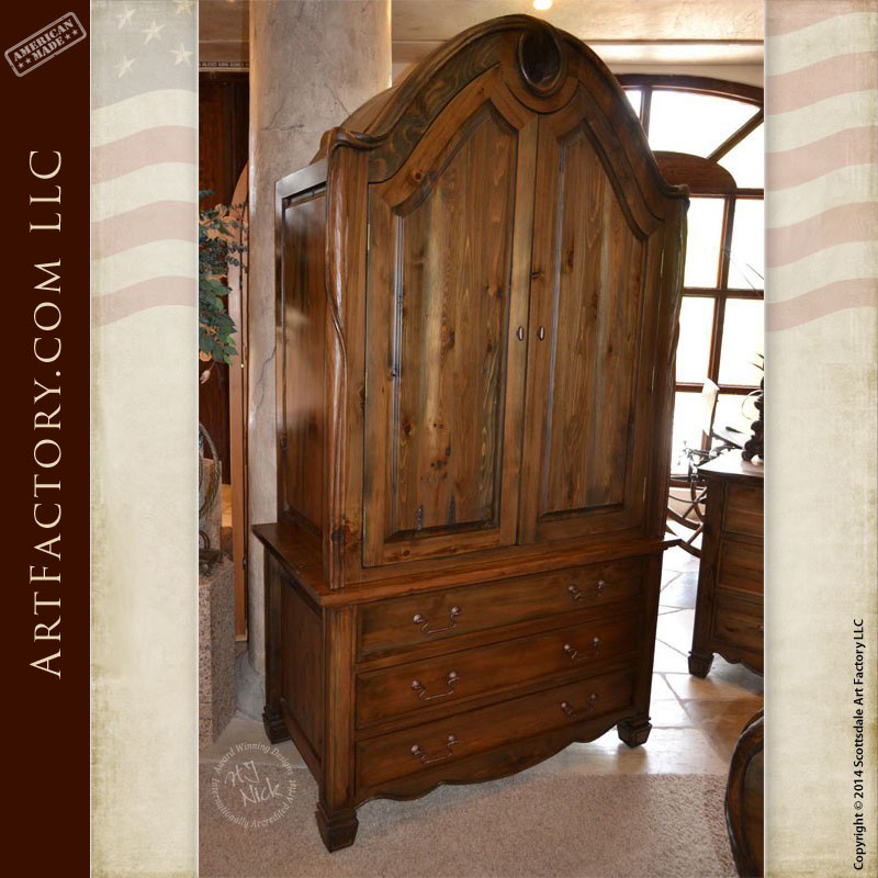 Art Nouveau Bedroom: Art Nouveau Style Armoire: Matching Bed And Nightstand