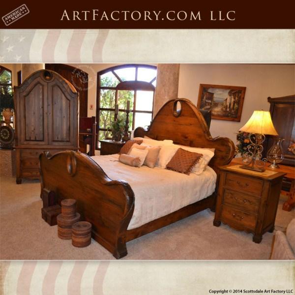 Art Nouveau style bedroom set