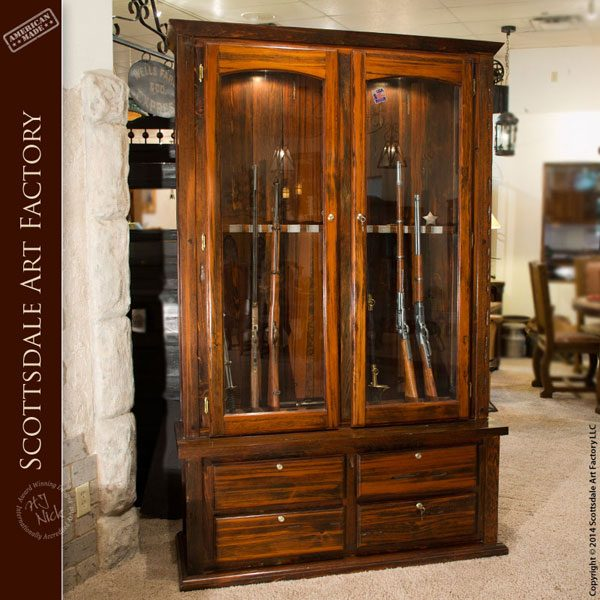 Custom Gun Cabinet  Hand Built Solid Wood Cabinets