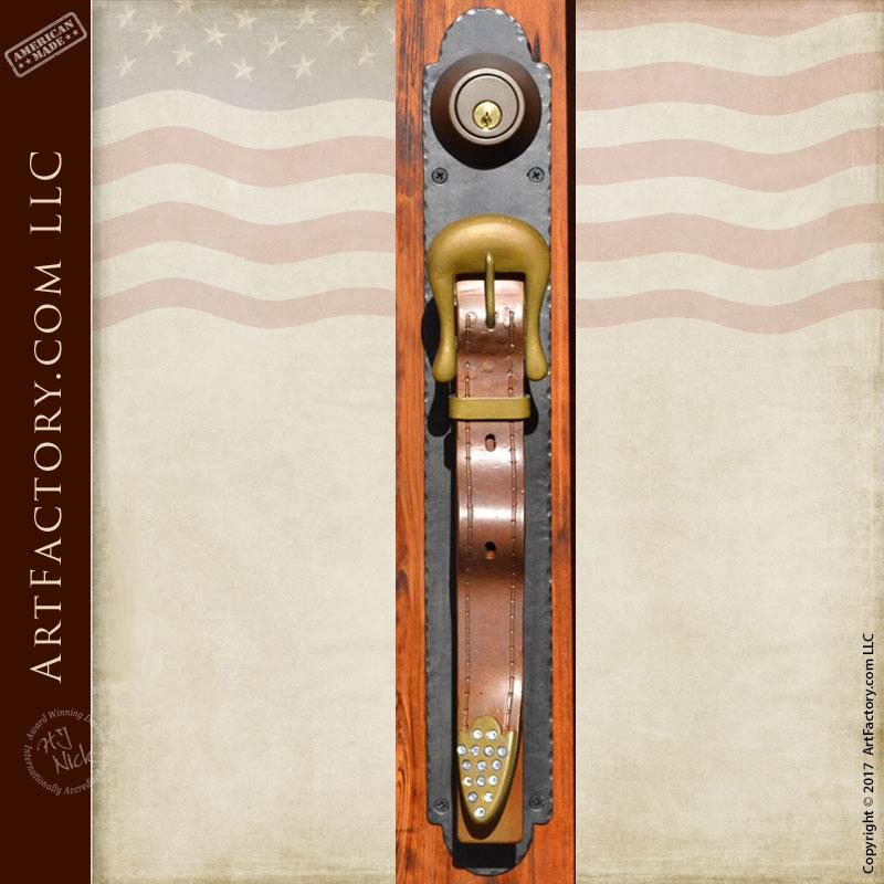 cowboy belt door pull