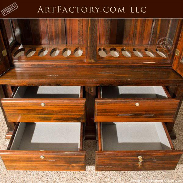 Custom Gun Cabinet Craftsmanship Details