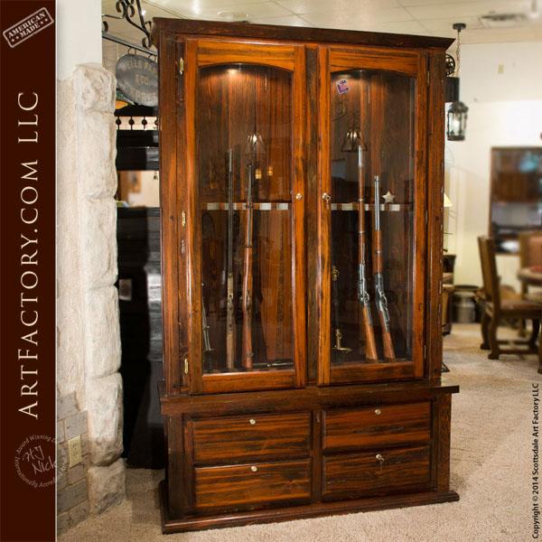 Beau Rustic Custom Gun Cabinet ...