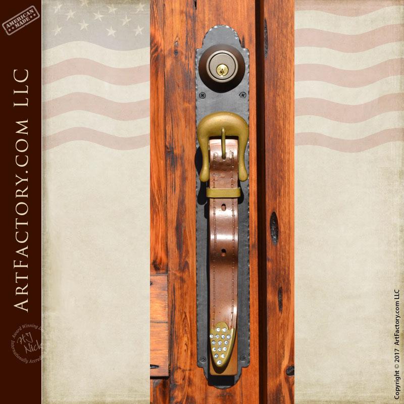 Western Style Cowboy Theme Door Hardware Info & Western Style Cowboy Theme Door | H.J. Nick Original Carved Design