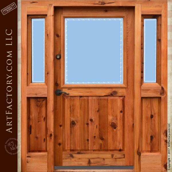 custom etched glass front door
