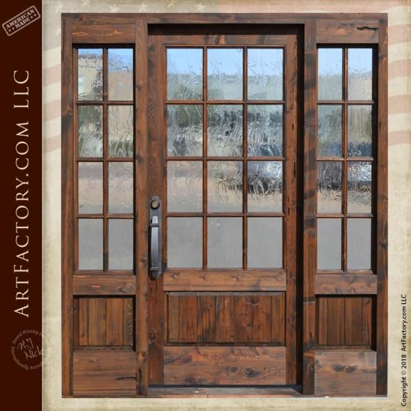 custom French paned door