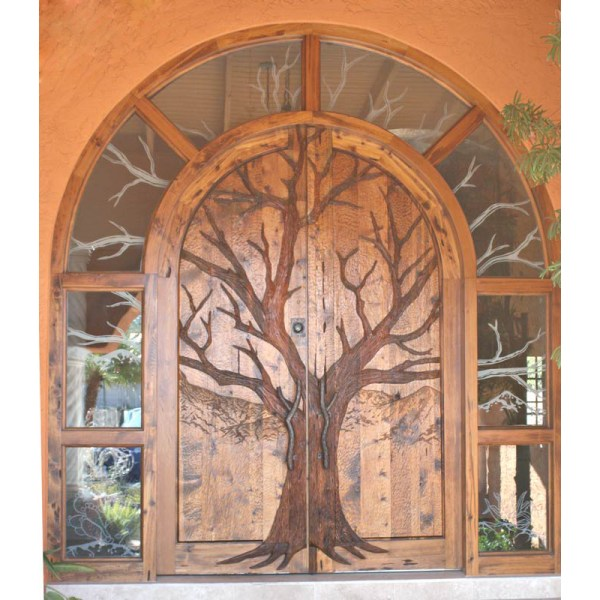 hand carved designer doors