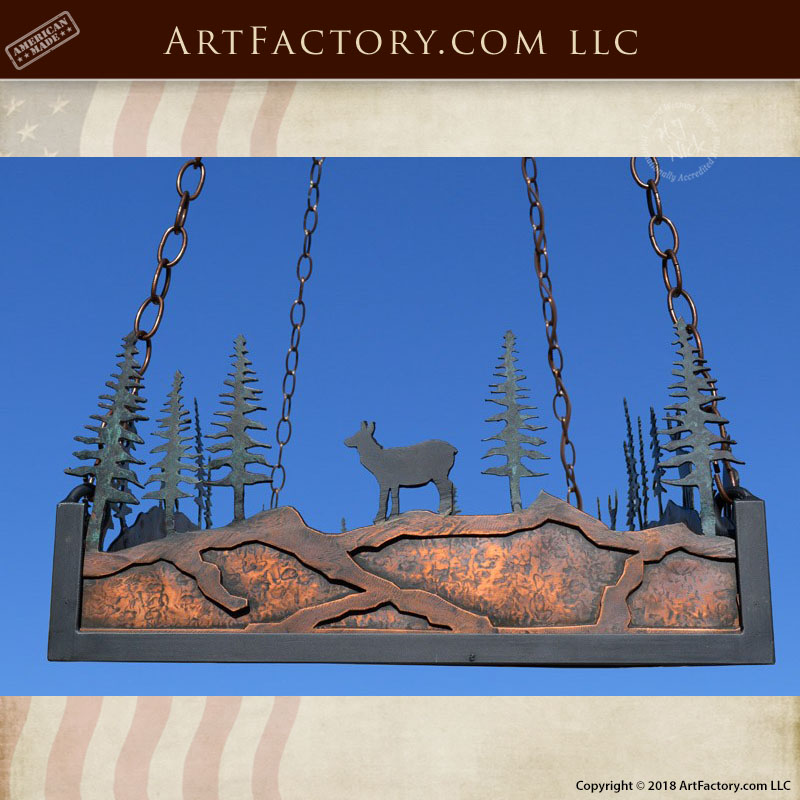 custom lodge theme chandelier