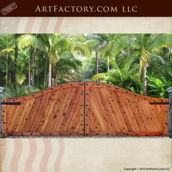 Gate estate wood iron