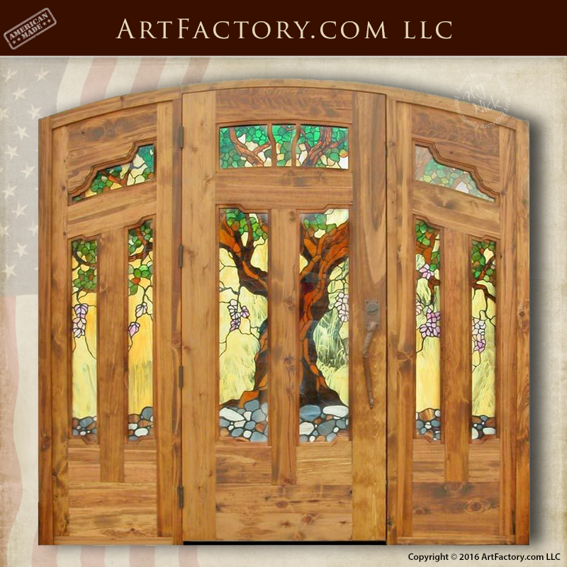 stained glass craftsman door