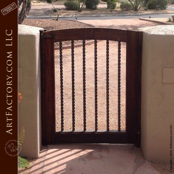 iron wood security gate