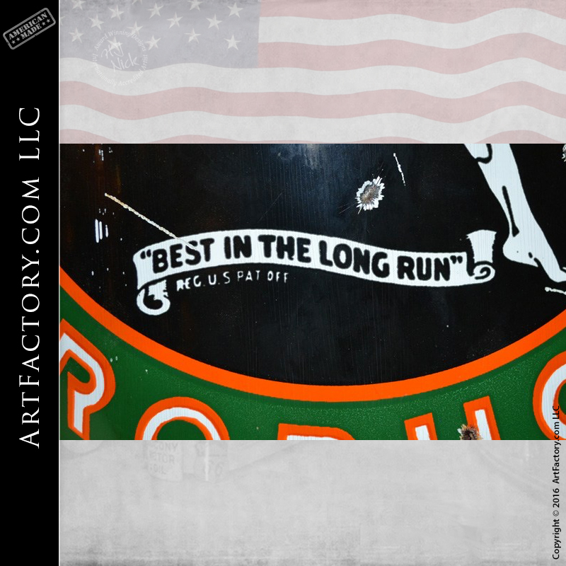 """Marathon Products Porcelain Sign: """"Best In The Long Run"""