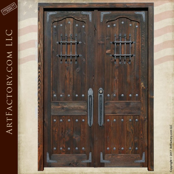 custom medieval double doors