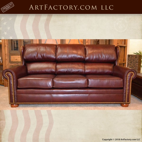 Brilliant Custom Wing Back Leather Sofa Fine Art Quality Luxury Furniture Creativecarmelina Interior Chair Design Creativecarmelinacom