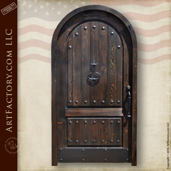 arched gothic entrance door
