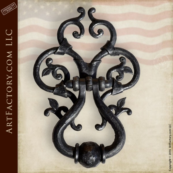 Hand Forged Door Knocker 14th Century Style Wrought Iron