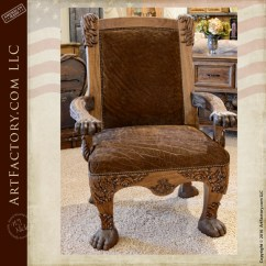 Leather Couch And Chair Sit Ups Custom Sofas Fine Art Couches Lounge Chairs Hand Carved Lion Safari An H J Nick Original Design Bghc777