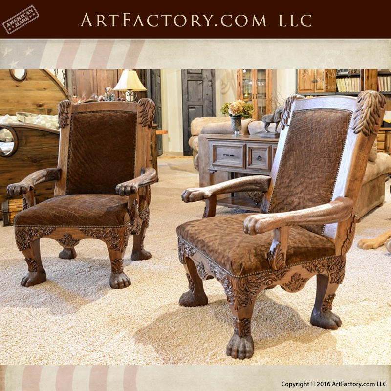 Image of: Safari Style Furniture Throughout Hand Carved Lion Safari Chair Hand Carved Lion Safari Chair An Hj Nick Original Fine Art Design