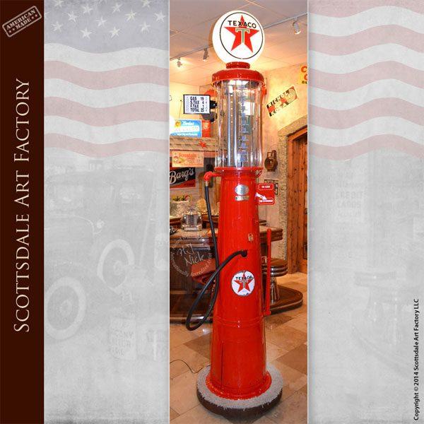 Antique Texaco Gas Pump  Restored Vintage Gilbert Barker