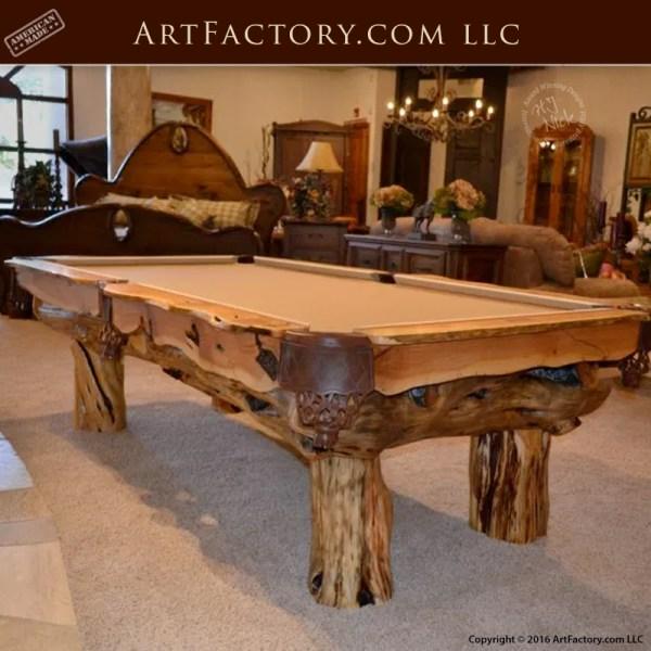Billiards-Table-Custom-Log-Home-Design