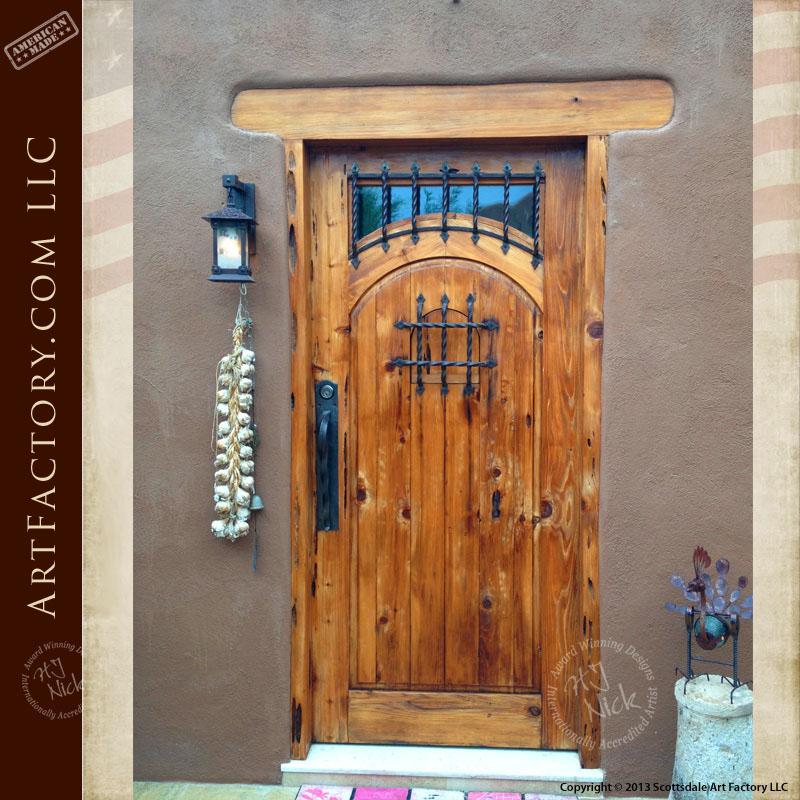 rustic wood speakeasy door