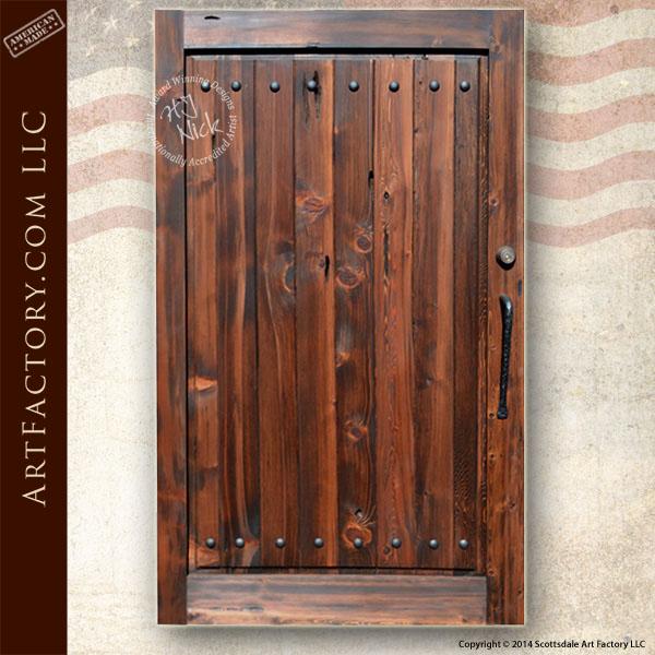 custom wooden courtyard gate