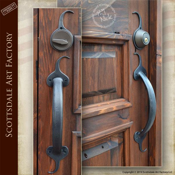 Door Handle Whimsical Spade Motif