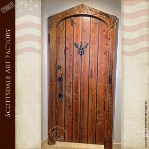 medieval castle entrance door