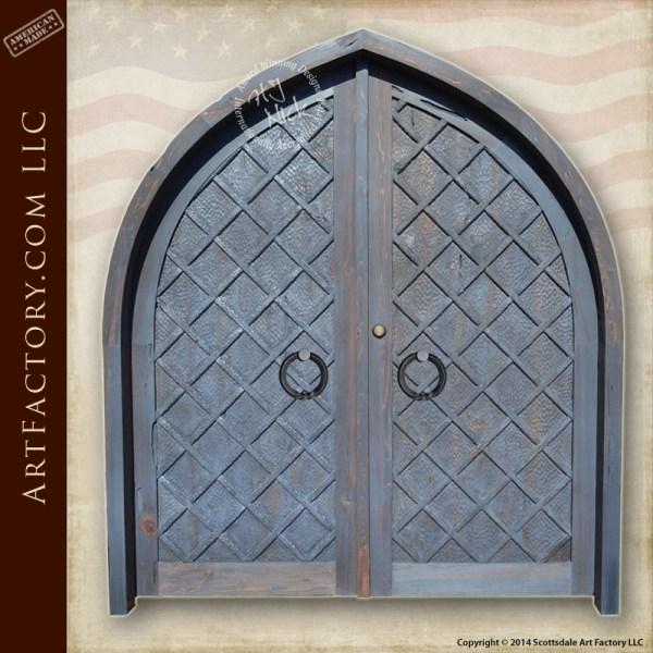Renaissance inspired double doors