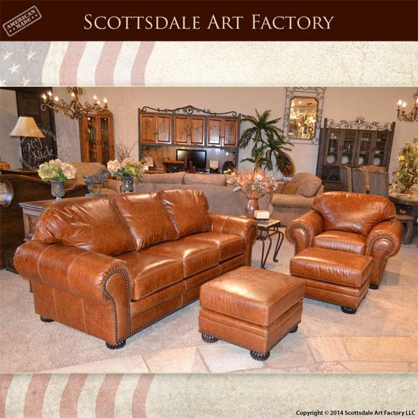 Custom leather traditional design sofa chair set for Traditional style leather sofas