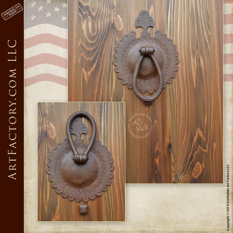 rosette inspired custom door knocker
