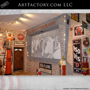 drive-in theme home theater