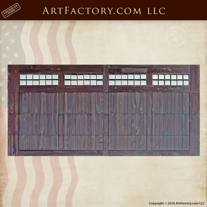 ... Double Designer Wood Garage Door U2013 Custom Iron Hardware U2013 GD1212.  Previous