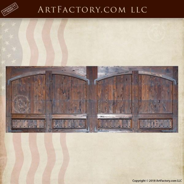 custom wooden garage doors