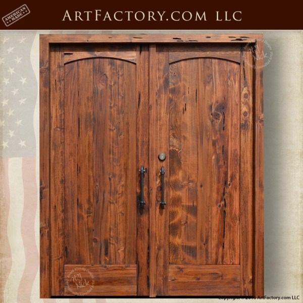 Solid Exterior Double Doors Quality Handcrafted Elegant Entrance