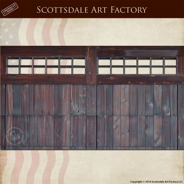Double Designer Wood Garage Door